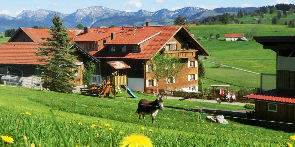3. Bauernhof Wiedemann mit Blick zur Nagelfluhkette